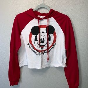 Mickey Mouse Disney Cropped Hoodie Sweater Sz S